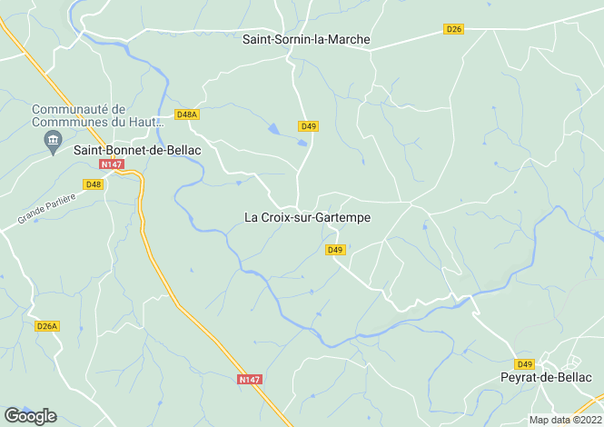 Map for la-croix-sur-gartempe, Haute-Vienne, France