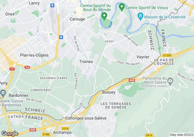Map for Genève, Troinex