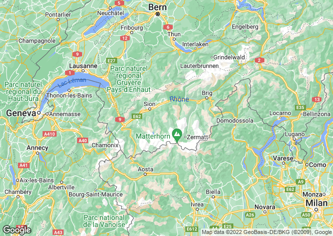 Map for Valais, Valais