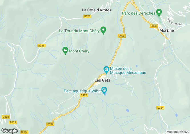 Map for Beautiful Savoyard Chalet near Les Gets