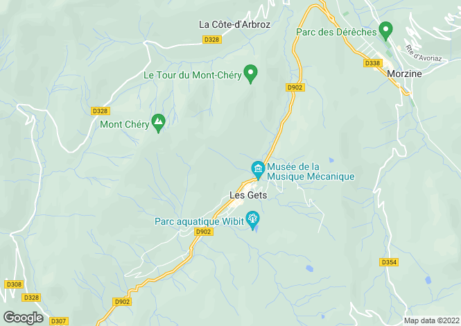 Map for Le Rocher, Les Gets