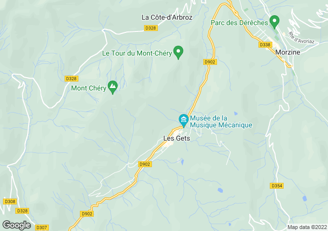Map for 74260 LES GETS, Haute-Savoie, France