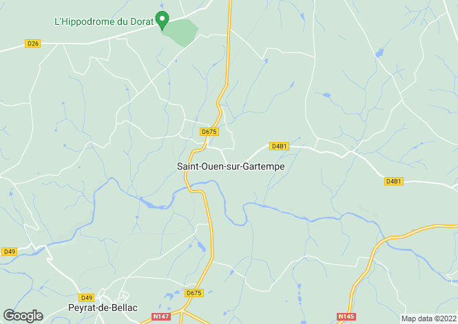 Map for st-ouen-sur-gartempe, Haute-Vienne, France