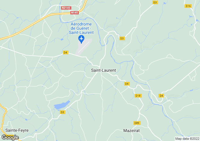 Map for st-laurent, Creuse, France