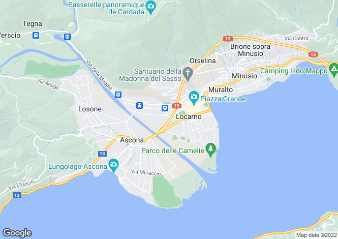 Map for Ticino, Locarno