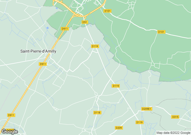 Map for Poitou-Charentes, Charente-Maritime, St-Pierre-d`Amilly