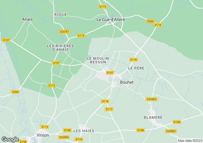 Map for bouhet, Charente-Maritime, France