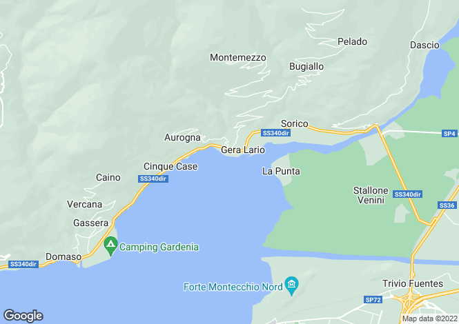 Map for Gera Lario, Como, Lombardy