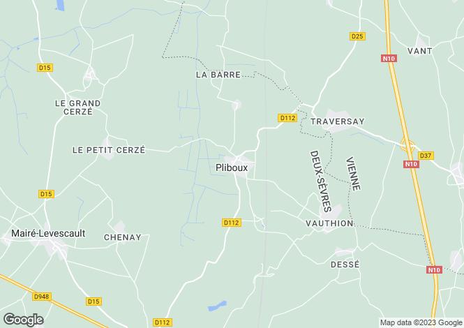 Map for Pliboux, Deux-Sèvres, 79190, France