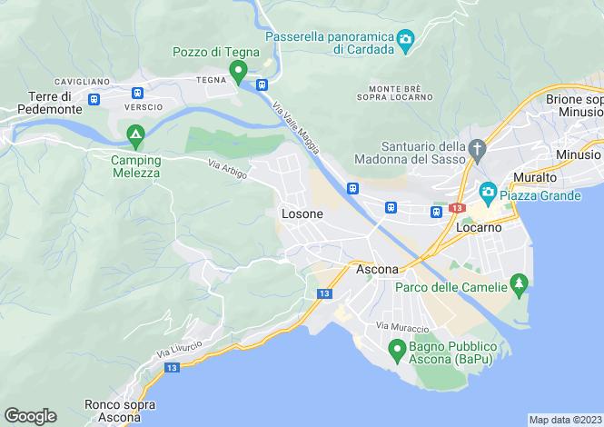 Map for Ticino, Losone