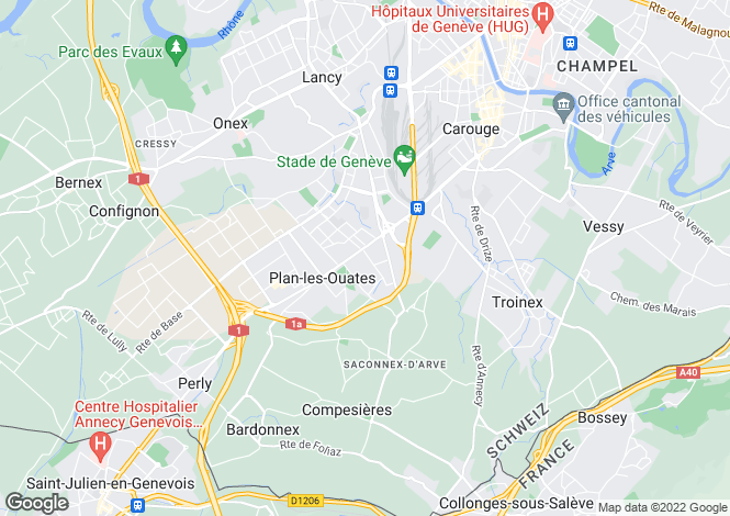 Map for Plan-Les-Ouates, Geneva, Switzerland