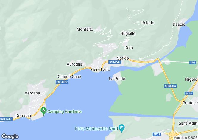 Map for Lombardy, Como, Gera Lario