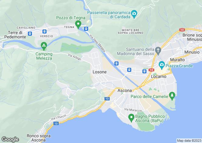 Map for Switzerland - Ticino, Losone