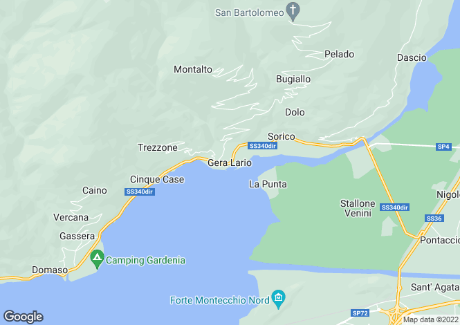 Map for Provincia Di Como, Lombardy, Italy