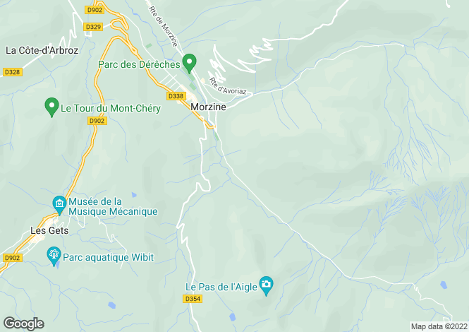 Map for Morzine, Haute-Savoie, Rhone Alps