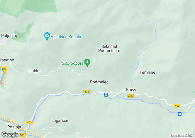 Map for Tolmin, Tolmin