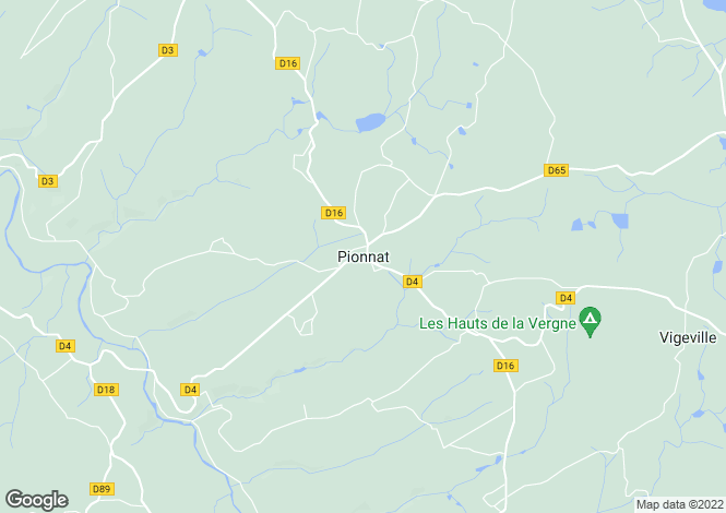 Map for Secteur: Pionnat, Creuse