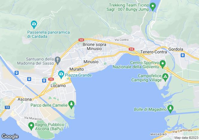 Map for Ticino, Locarno