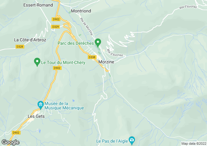 Map for Chalet, Morzine, France