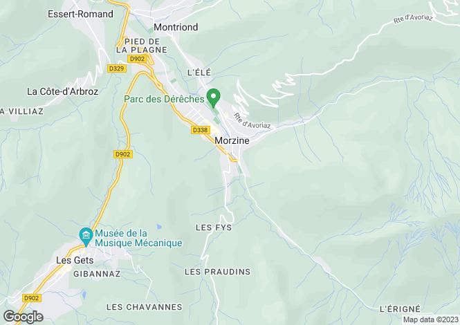 Map for Morzine, Haute-Savoie, Rhone Alps