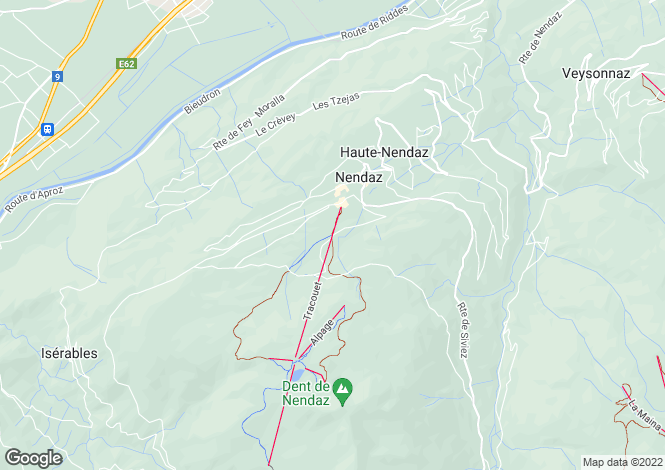 Map for Chalet Gingembre, Les Cleves, Nendaz, Valais
