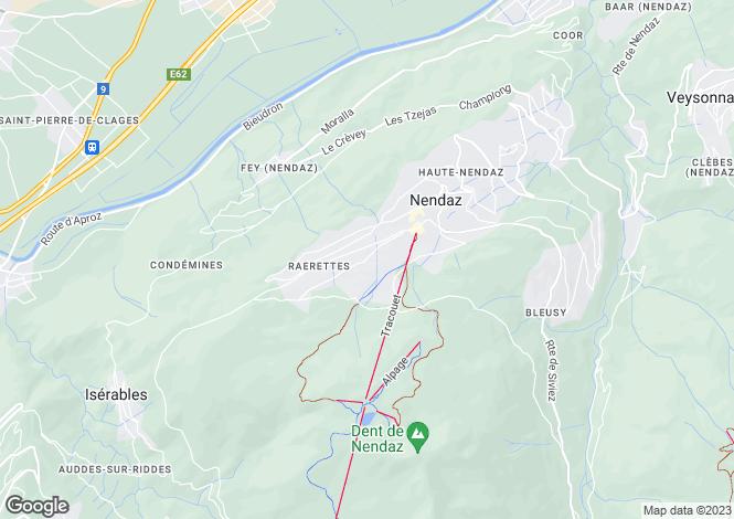 Map for Chalet Lily, Chemin Les Veillas, Nendaz