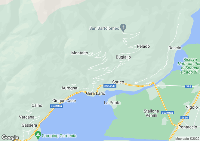 Map for Gera Lario, Como, Lombardy