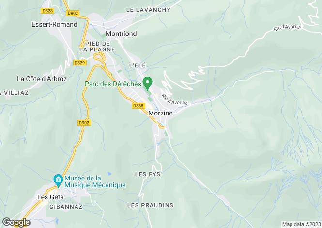 Map for Morzine, Haute Savoie, France, 74110