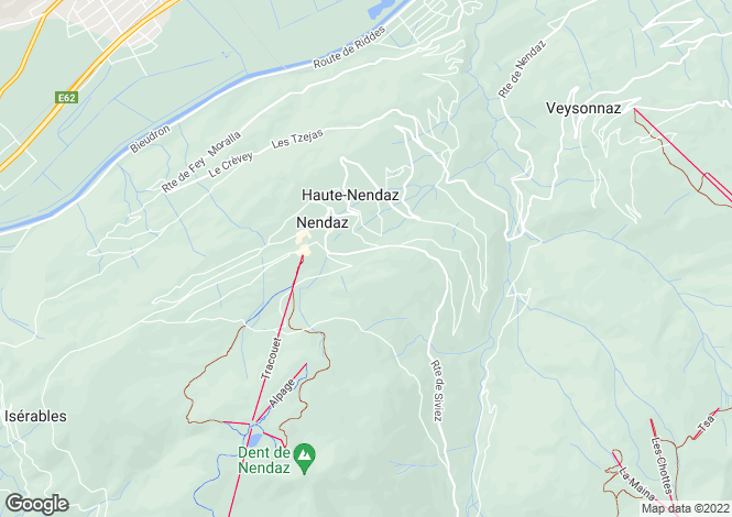 Map for Chalet Loup Blanc, Nendaz, Valais, Switzerland