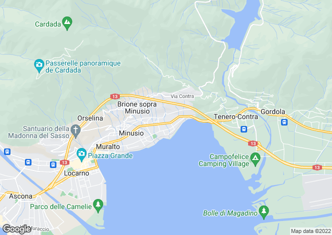 Map for Ticino, Minusio