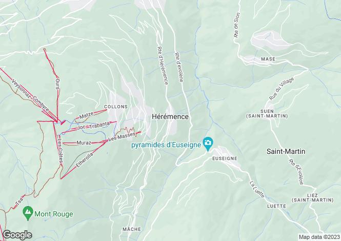 Map for Switzerland - Valais