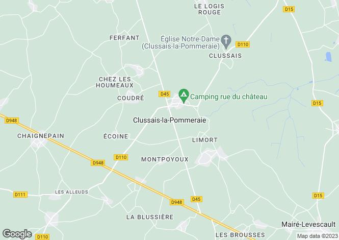 Map for Secteur: Clussais la Pommeraie, Deux Sevres