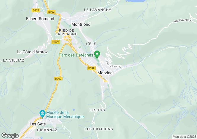 Map for Rhone Alps, Haute-Savoie, Morzine