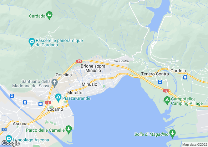 Map for Switzerland - Ticino, Minusio
