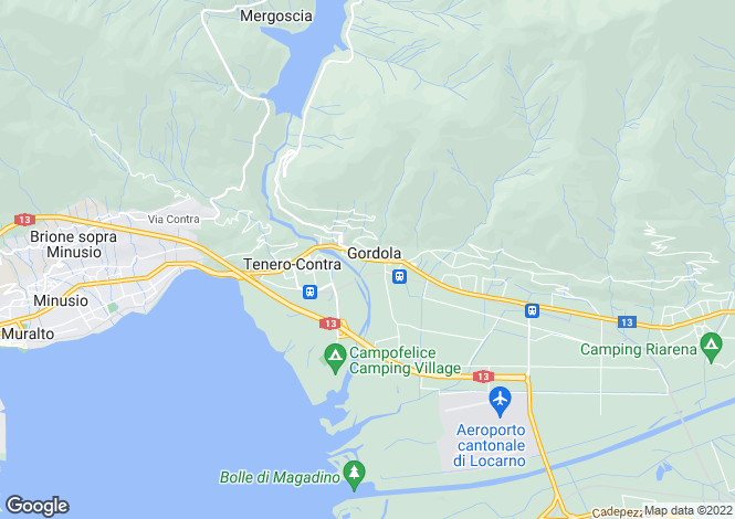 Map for Ticino, Gordola