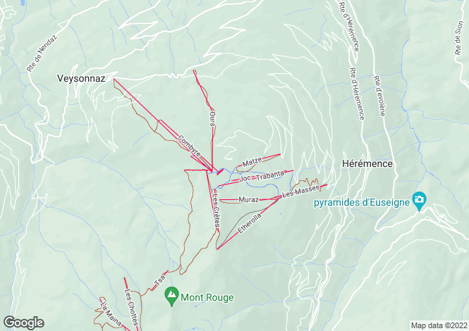 Map for Dixence Resort, Les Collons, Switzerland
