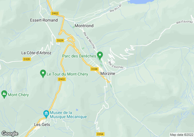 Map for 1568 Les Champs De La Plagne, Morzine, 74110, France