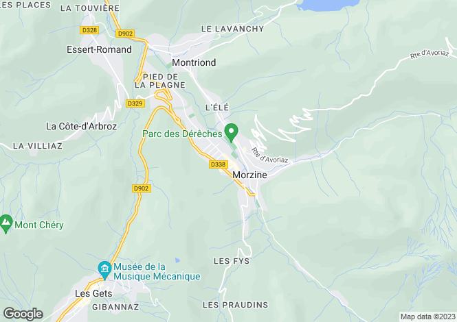 Map for Les Chalets de Montriond, Morzine/Montriond