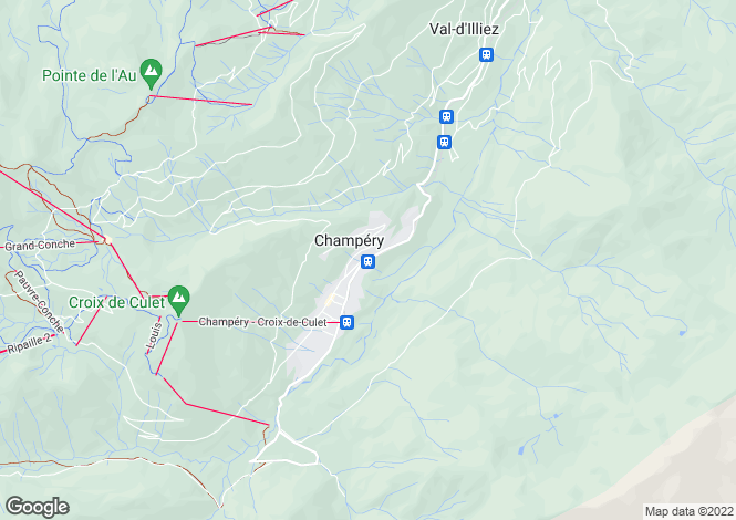 Map for Valais, Champéry