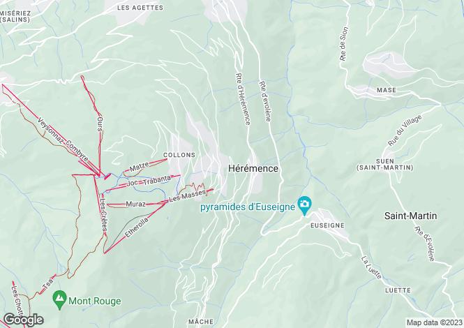 Map for Les Masses, Les Masses, Valais, Switzerland