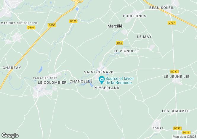 Map for St Genard, Marcillé, Deux-Sèvres, 79500, France
