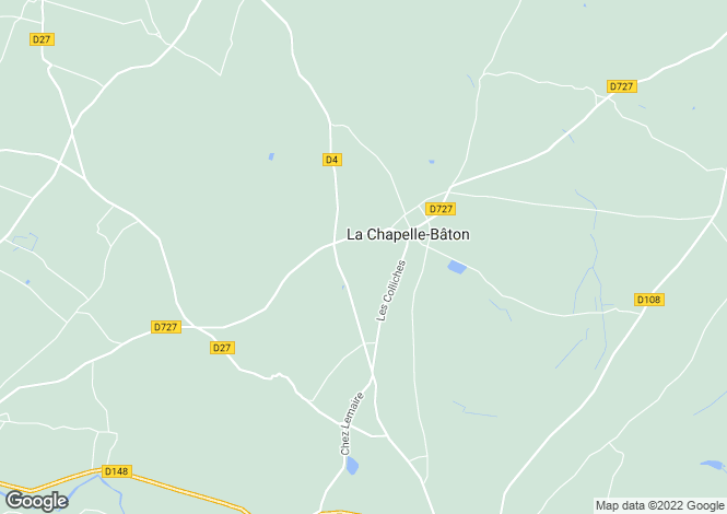 Map for Civray, Poitou-Charentes, 86250, France