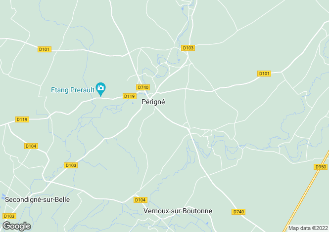 Map for perigne, Charente-Maritime, France