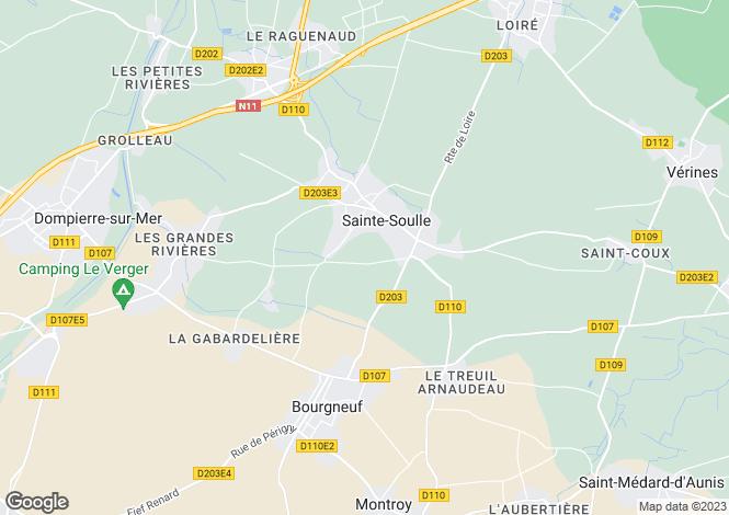 Map for ste-soulle, Charente-Maritime, France