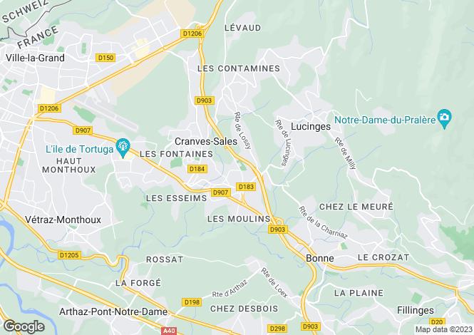 Map for Cranves Sales,France
