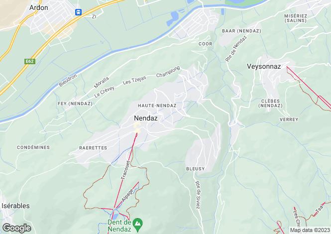 Map for Mer de Glace, Nendaz, Nendaz, Valais