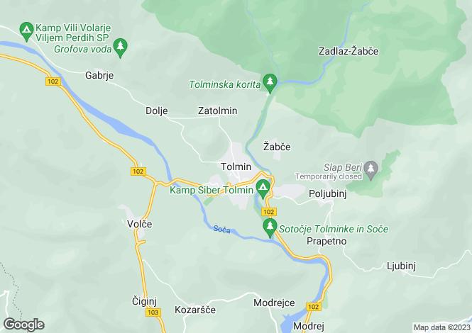 Map for TolmIn, TolmIn, Slovenia