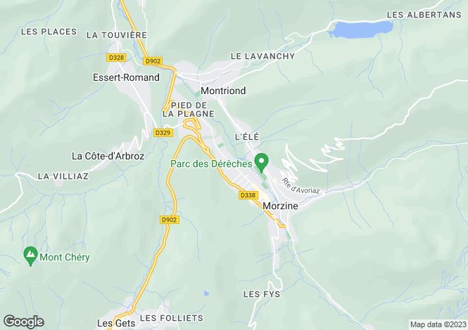Map for Chalet Rogski, Morzine, France