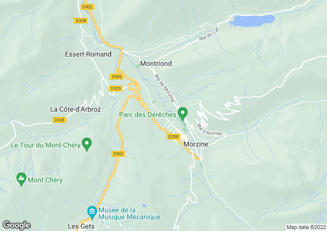 Map for Chalet Jean, Morzine Valley, France