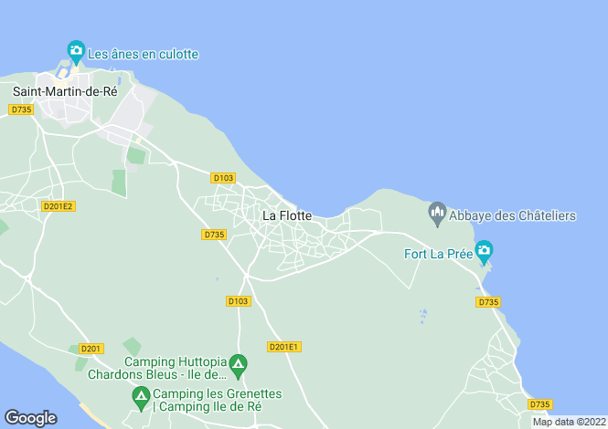 Map for la-flotte, Charente-Maritime, France